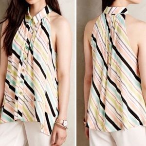 Anthropologie Maeve Colorful Tensi Swing Top sz 4
